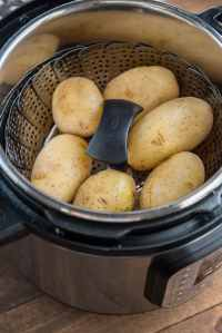 Breakfast potatoes will be made from whole potatoes being steamed in Instant Pot