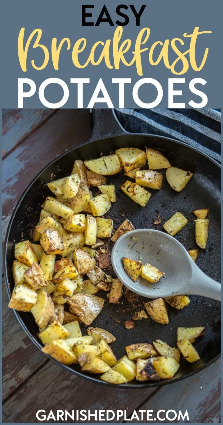 One of my favorite meal prep recipes is breakfast potatoes! Breakfast potatoes are the ultimate filling breakfast and perfect to serve with eggs or other favorite breakfast foods!