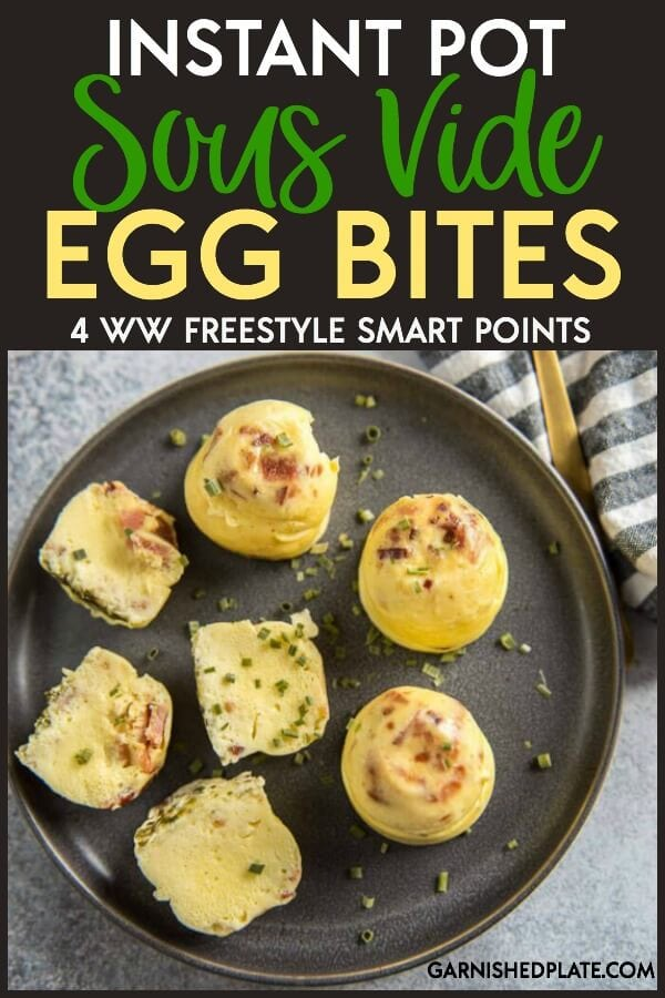 The ultimate grab and go breakfast! These Instant Pot Sous Vide Egg Bites are quick to make and can be customized with any add-ins you like. These light, fluffy and delicious egg bites are perfect for a simple breakfast for kids or can even be served at your next brunch. #breakfast #brunch #eggs #eggrecipes #eggbites #instantpot #pressurecooker
