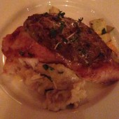 The Bourbon House - Deviled Crab Crusted Redfish