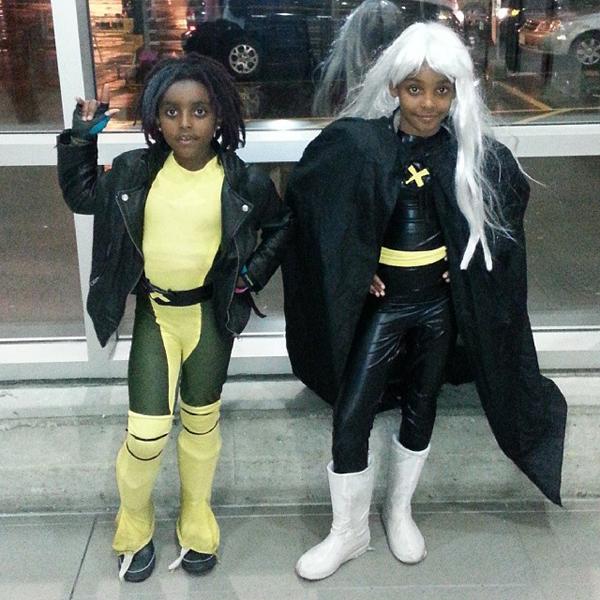 Criança Fantasia Halloween Rogue e Storm