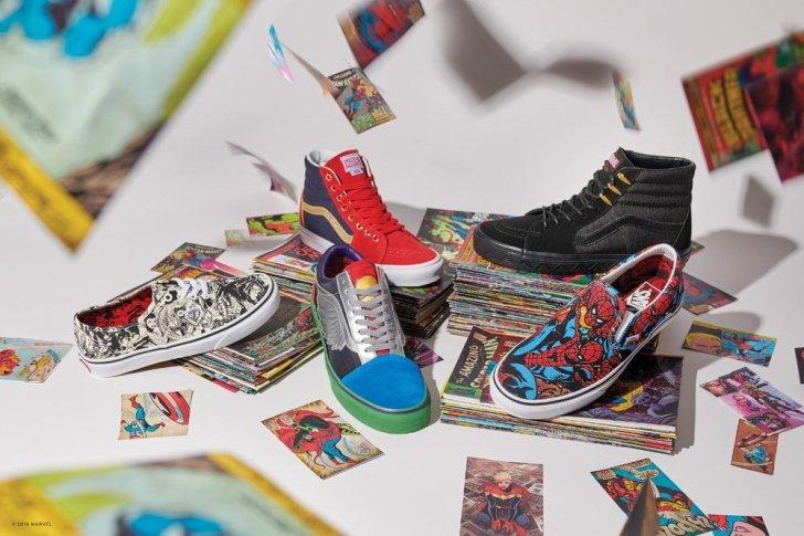 Vans lança roupas e calçados inspirados na Marvel
