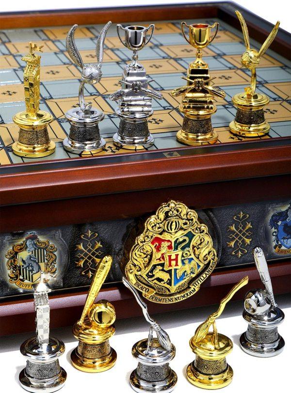 Harry Potter: Conjunto de Xadrez inspirado nas casas de Hogwarts