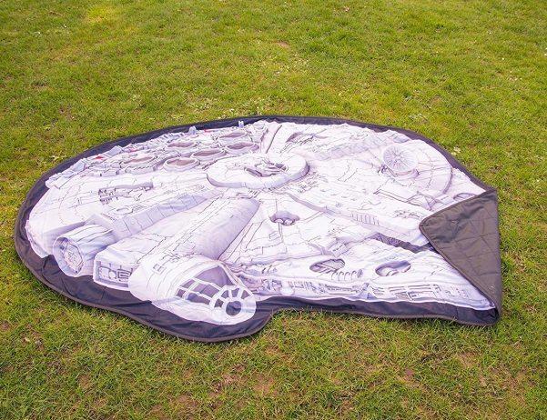 Star Wars: Toalha de piquenique com estampa da Millennium Falcon