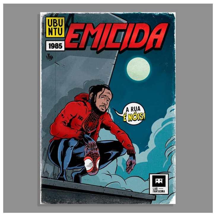 Rappers brasileiros viram heróis em projeto de ilustração