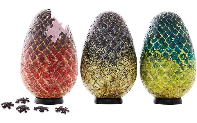 Game of Thrones Quebra cabeça 3D dos ovos de dragão