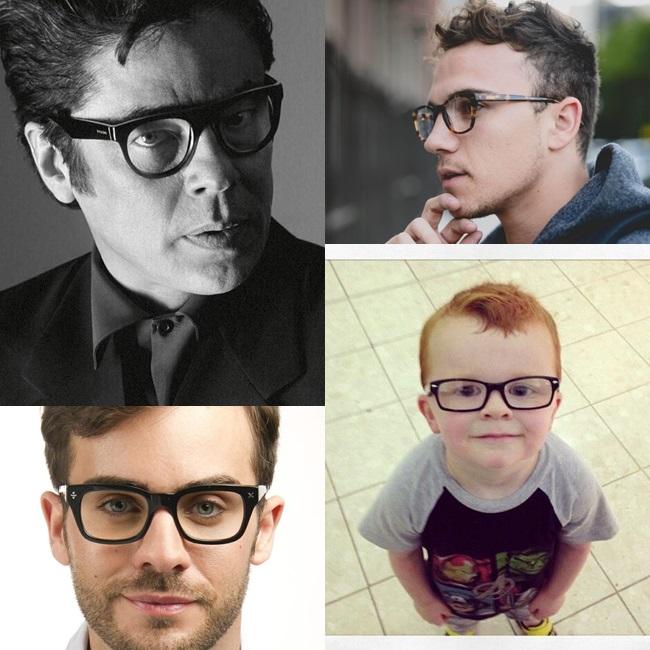 homens de óculos