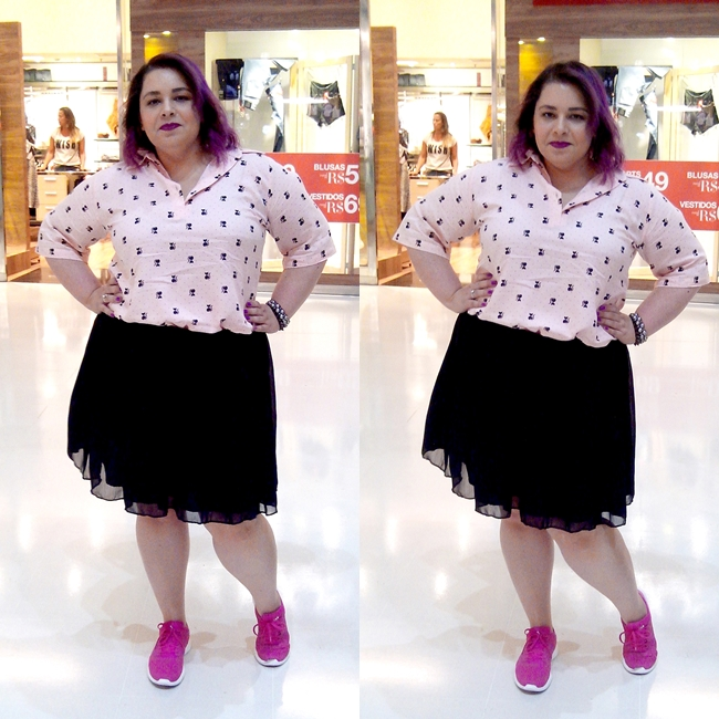 look-plus-size-saia-de-tule