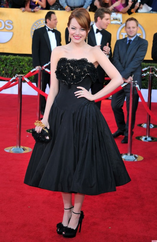 emma stone dress black