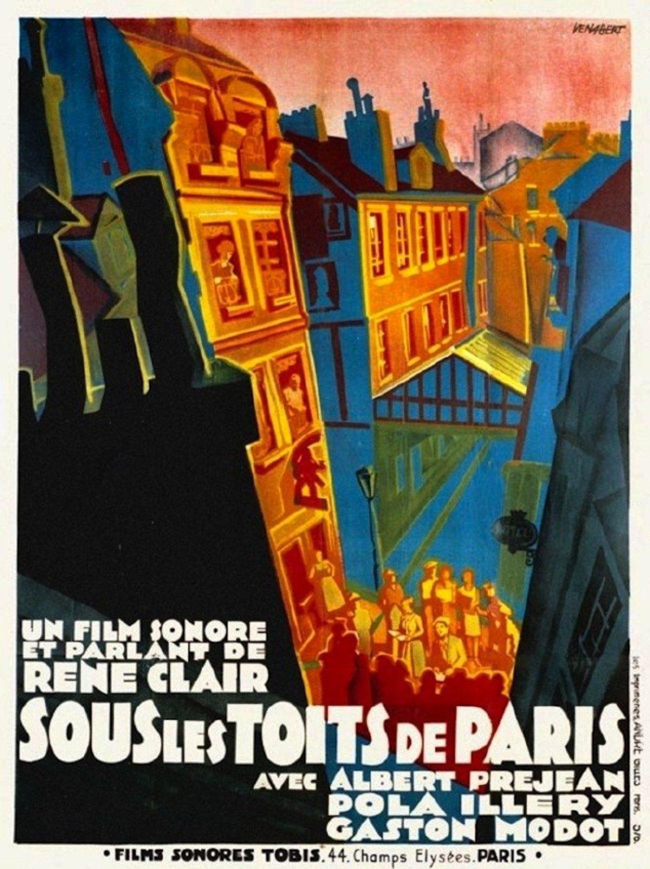 Sous les toits de Paris poster