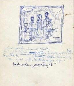 John Lennon handwritten lyrics to Lucy in the Sky with Diamonds