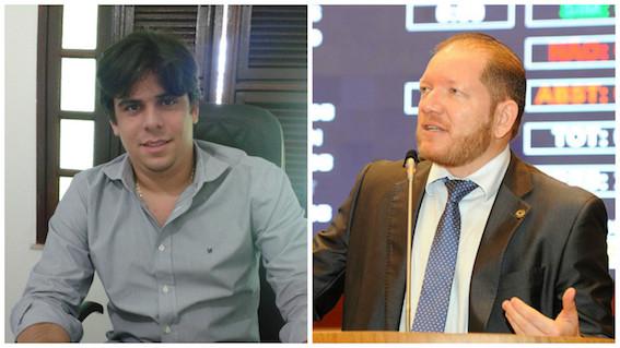 O presidente do PRP, Severino Sales e o deputado Othelino Neto do PC do B