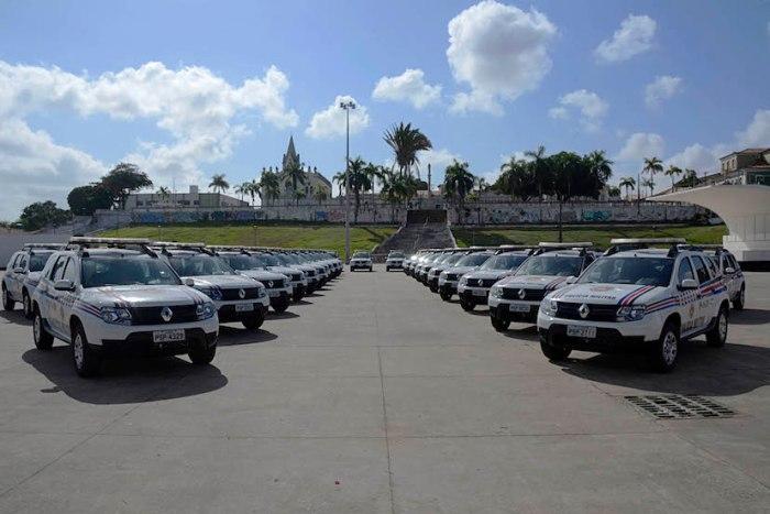 Novas viaturas foram entregues pelo governador Flávio Dino na manhã desta quarta-feira