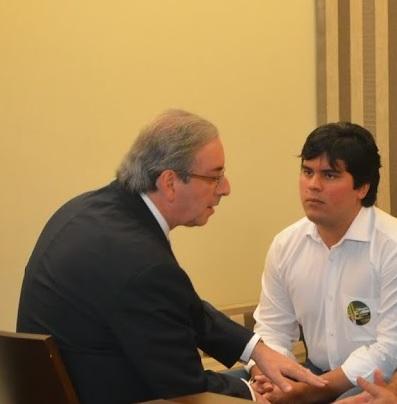 Eduardo Cunha e o seu afilhado o deputado Fufuquinha (PP)