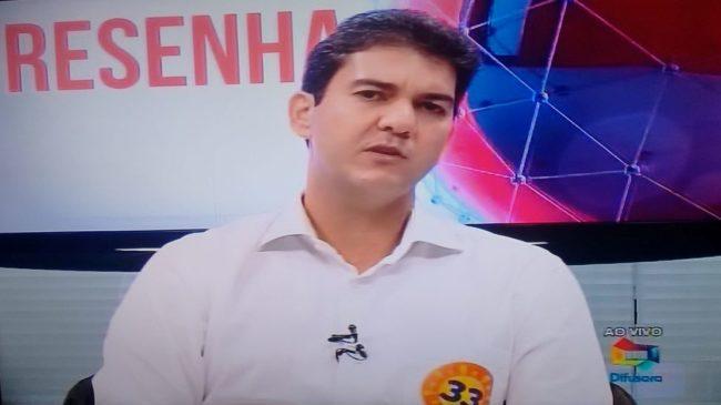 O candifdato Eduardo Braide durante entrevista neste sábado no programa Resenha na TV Difusora