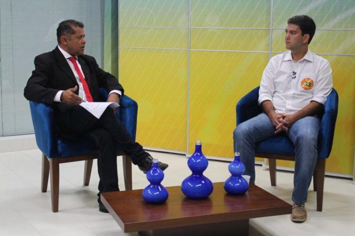 Eduardo Braide em entrevista ao Bom Dia Maranhão na TV Difusora: mais uma vez pego na mentira