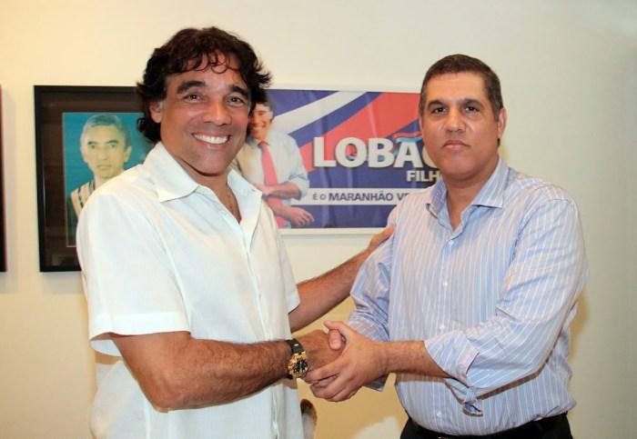 Edinho Lobão agardece a Cláudio Trinchão o apoio na campanha de 2014