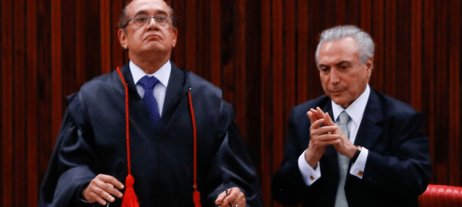Faculdade de Gilmar Mendes fará evento com Temer patrocinado pelo governo