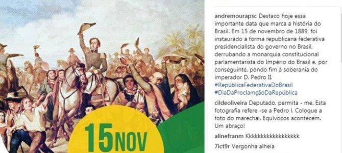 Além de Roberto Rocha, D. Pedro I também proclamou a República do líder do governo Temer