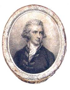 """Arthur Hill, 2nd Marquess of Downshire By Pierre Conde, after Richard Cosway. Stipple engraving, 1786, 7 5/8"""" by 5 ¼"""""""