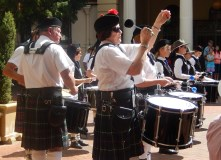 Massed Pipe Bands Drummers Armidale March 2014