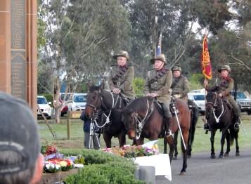 Guard of Honour Bogan Gate Anzac Day 2015