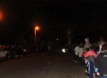 The crowd gathering pre-dawn Anzac Day 2015 Bogan Gate