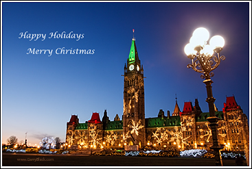 Ottawa Christmas Lights On Parliament Hill Photo Shoot