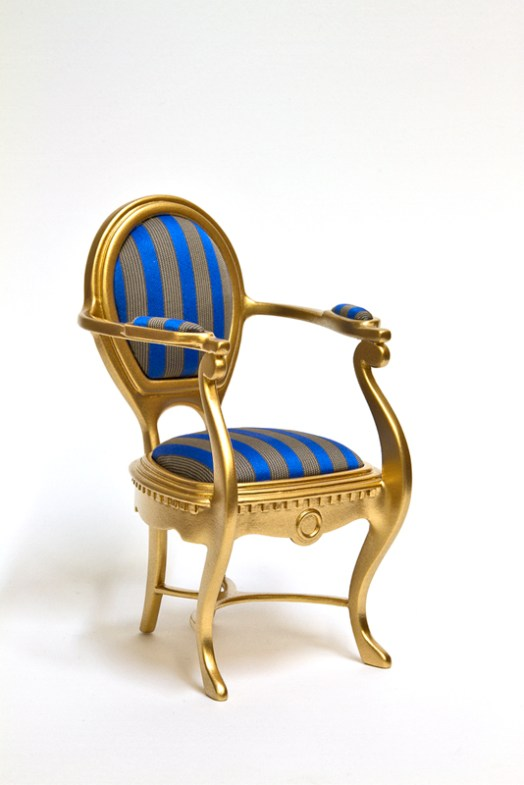 1:6 miniature chair, commissioned for private client [cardboard & acrylic paint]