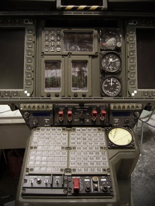 Pilot console for the SA-2 Samson helicopter