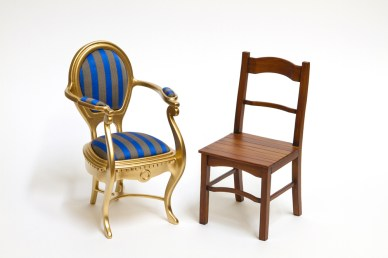 1:6 miniature chairs, commissioned for private client [cardboard & acrylic paint]
