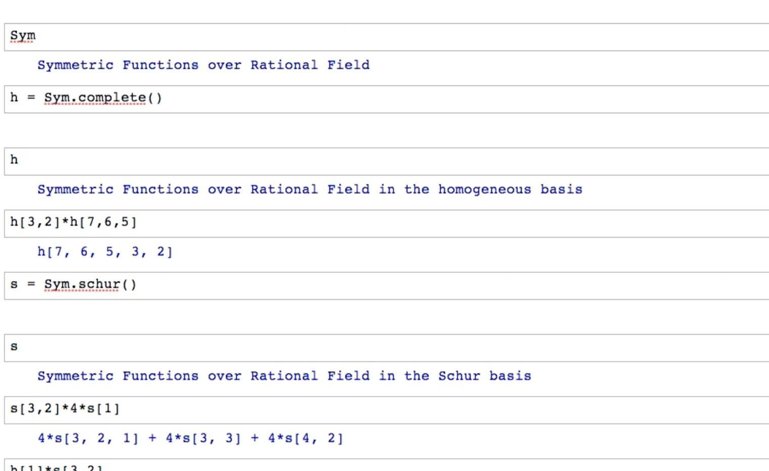 Symmetric Function Tutorial In Sage