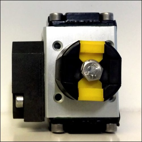 A standard ball valve with indicator switch.