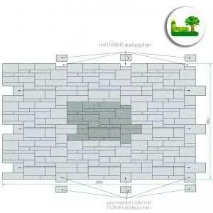 Versetzanleitung für den Gala Mauerblockstein. Garten Leber