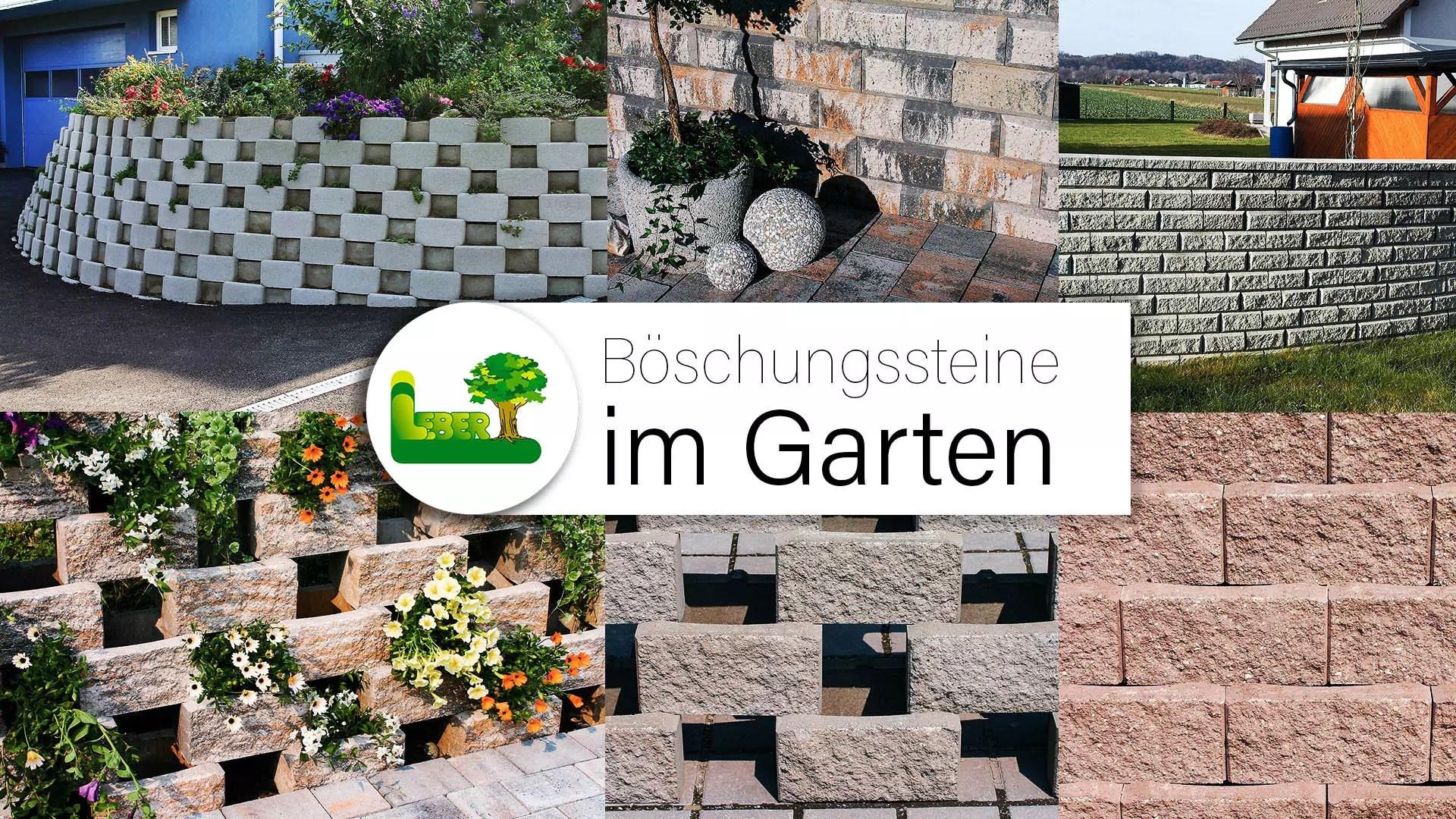 Böschungssteine im Garten mit Garten Leber aus Steiermark.