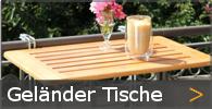 Balkonhängetische Klapptische Geländer Tisch Holz