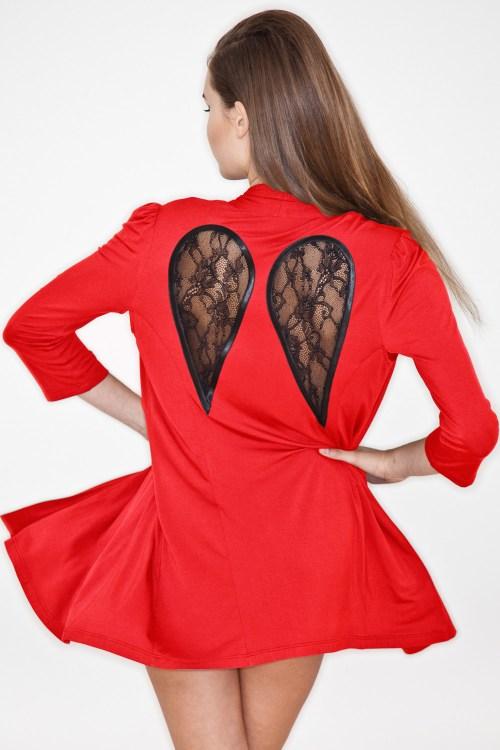 Kriss Soonik — Short Gaia Wings in red