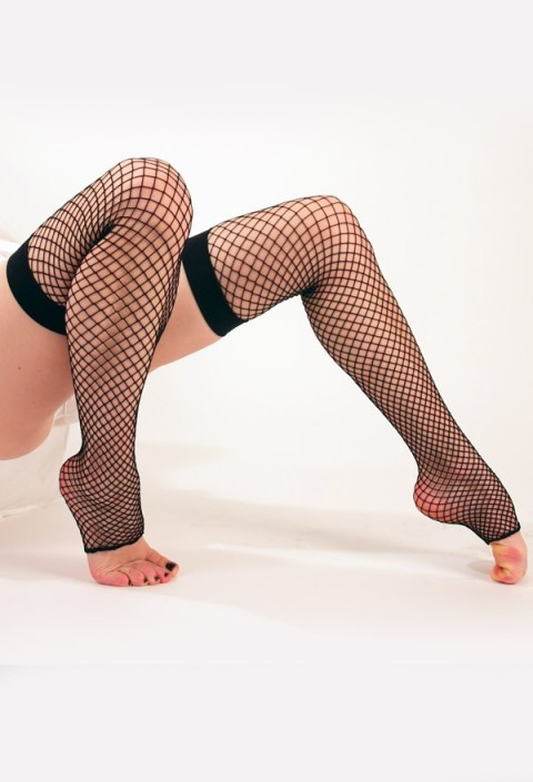 Industrial Net Toeless Thigh-High Stockings, $6