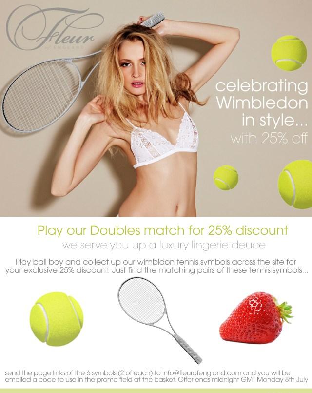Fleur of England Wimbledon promotion details