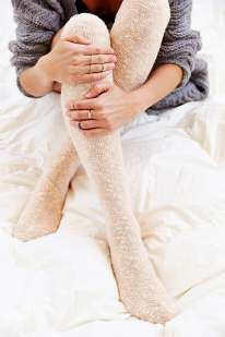 Reverse Terry Knit Knee-High Sock, $14, с хлопком
