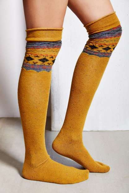 Patterned Over-The-Knee Sock, $14, с хлопком