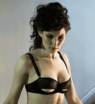Something Wicked, Ava Half Cup Leather Bra, £135