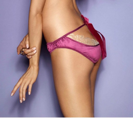 Fred & Ginger, Romance Burgundy and Gold Lace Peephole Knicker, £63 было £90 в магазине MioDestino