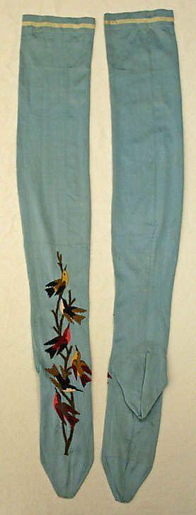 чулки ретро шёлк 19й век stockings retro silk