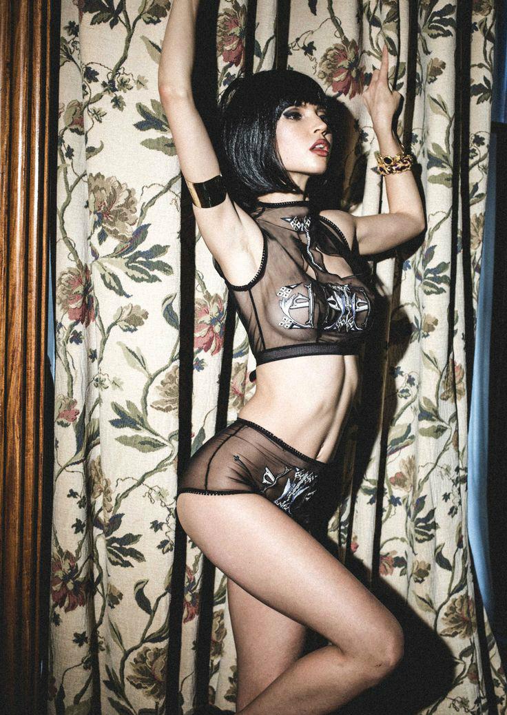 Erica M. Petra Top and High Waist underwear, $68 (около 4630 руб.)