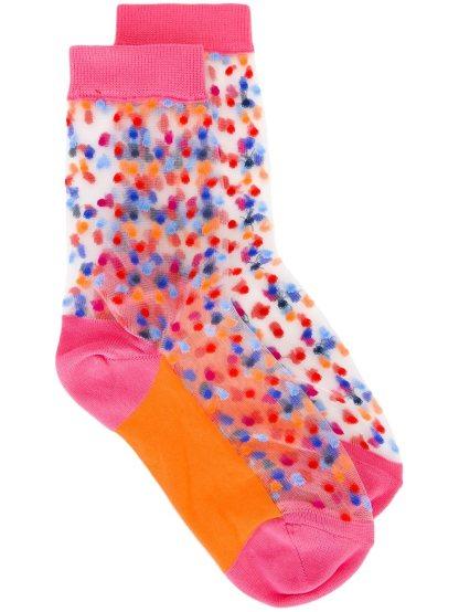 Прозрачные носки с узором в горох Paul Smith, 1 395,50 руб.