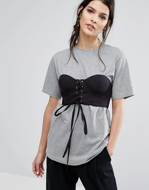 Oversize-футболка с корсетом Neon Rose 2 461,53 руб.