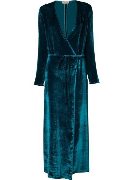 ATTICO tied V-neck maxi dress, 71309₽ (-10% на первый заказ | f10off)