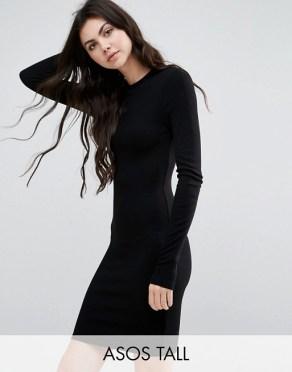 Образ с корсетом поверх платья. С трикотажным платьем в рубчик ASOS TALL, 1 153,84 руб.