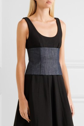 TIBI Mesh-paneled denim corset, £221